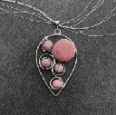 New! Heart Shielding: Rhodonite with Flowing Spirals